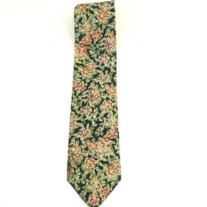 Christian Dior Floral Print Silk Tie